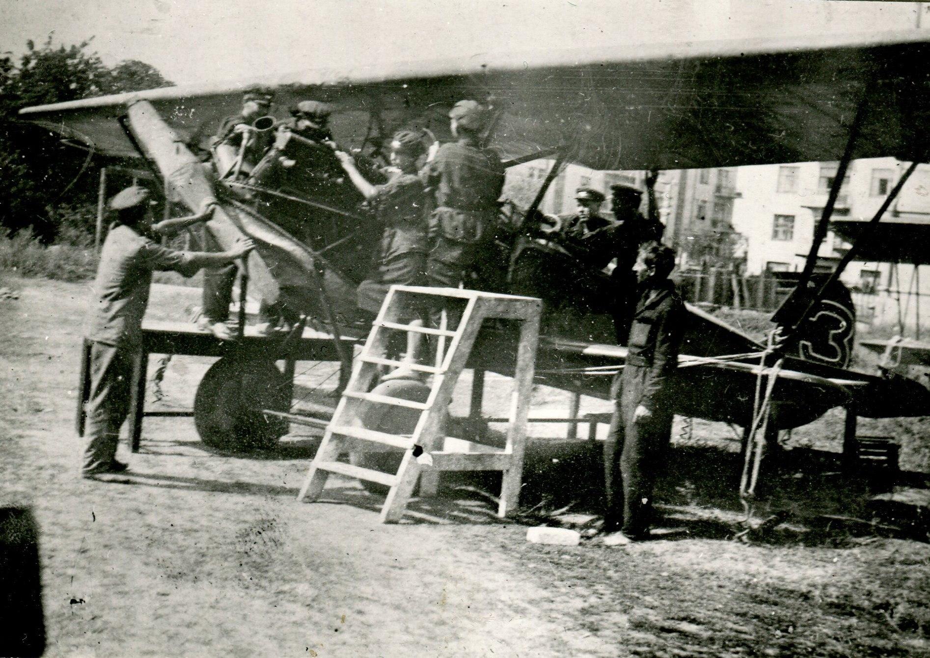 1936. Регламентные работы на мат. части. Аэроклуб