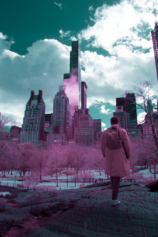 Инфракрасные снимки Нью-Йорка