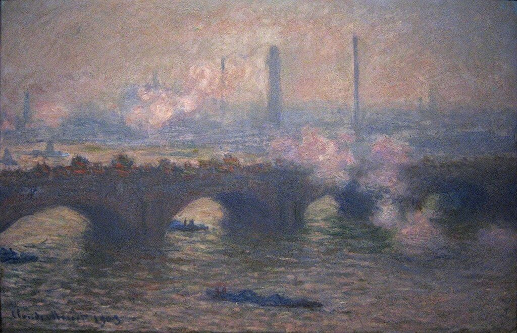 Мост Ватерлоо, Серый день 1903.jpg