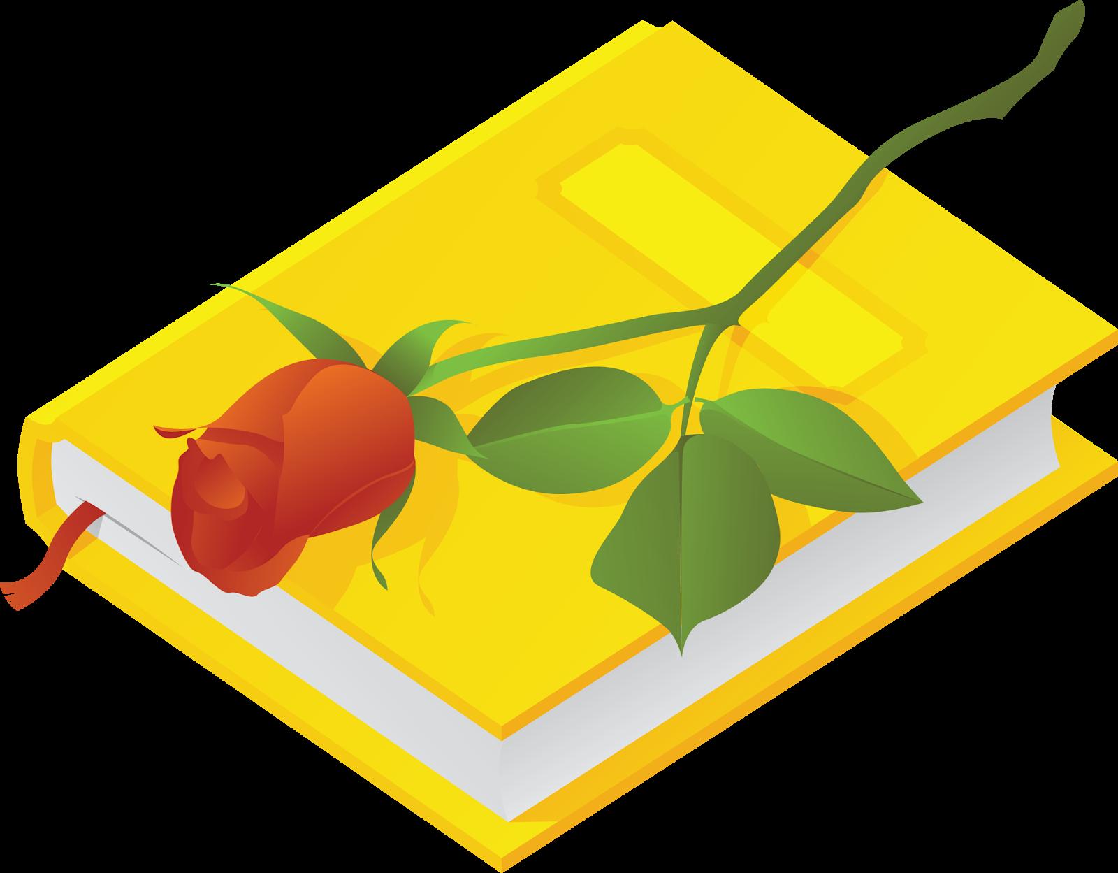 День библиотек! Красная роза на книге