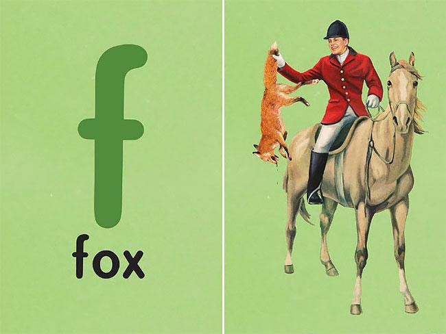 F — fox (лиса).