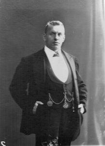 Портрет чемпиона мира по классической борьбе Г.Луриха.1912