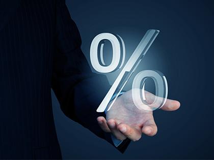 Максимальная процентная ставка повкладам топ-10 русских банков сохраняется ниже 8%
