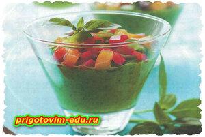 Суп-пюре из листьев салата
