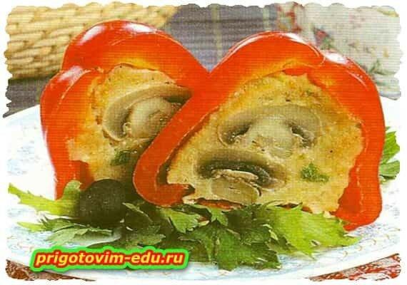 Перец закусочный с грибами