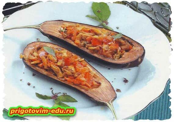Баклажан, фаршированный грибами