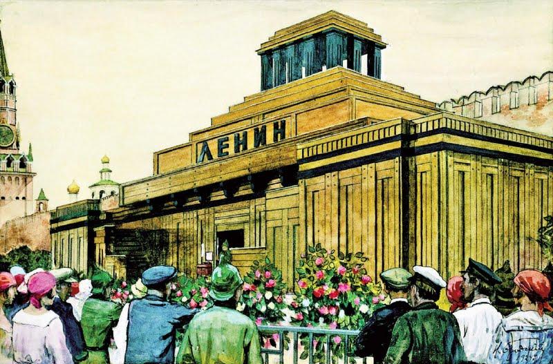 Исаак Бродский. У Мавзолея В. И. Ленина. 1924