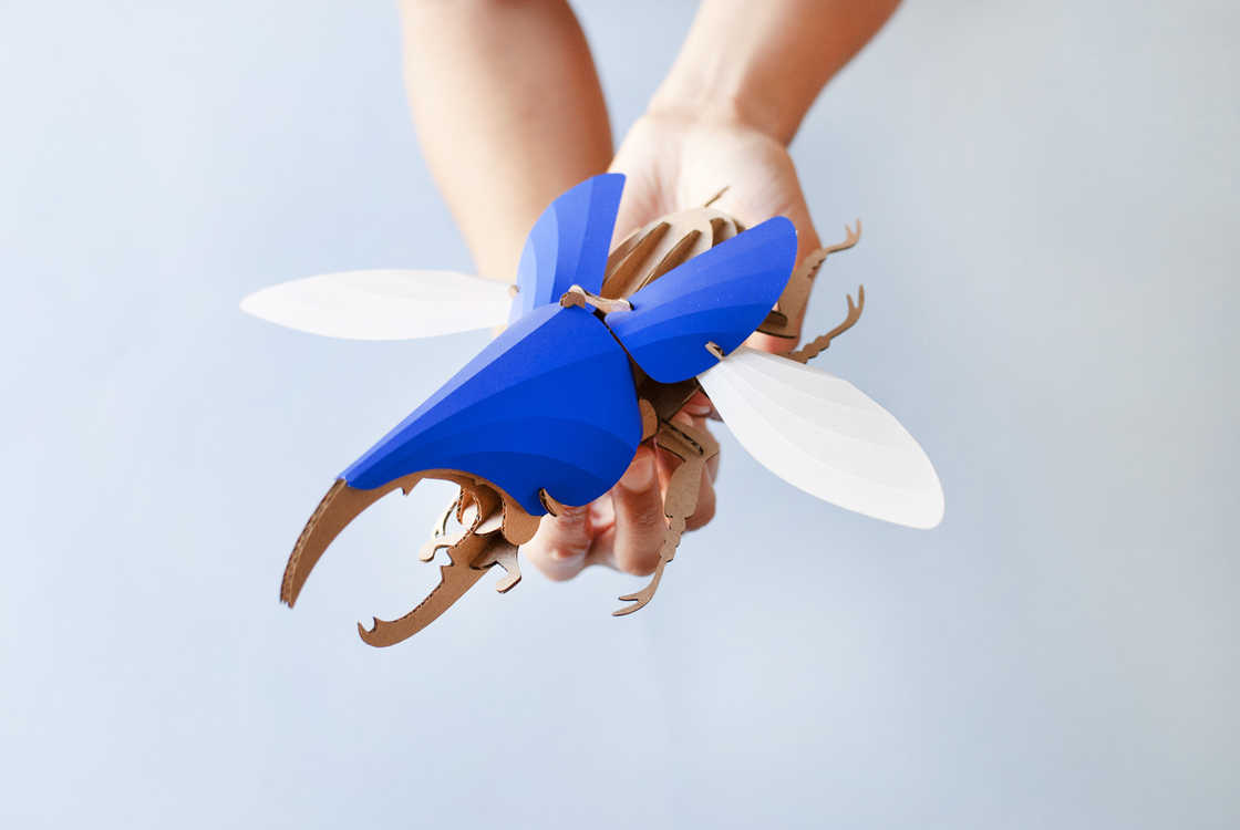 Paper Beetles - Beautiful paper sculptures to assemble by yourself