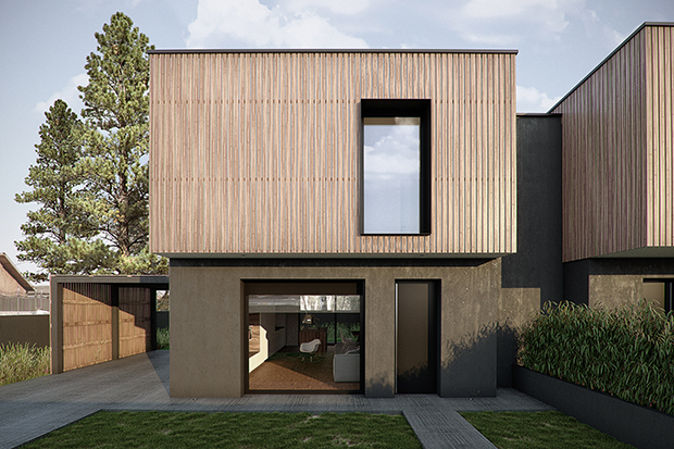 Double-Family House by ZDA | Zupelli Design Architeture