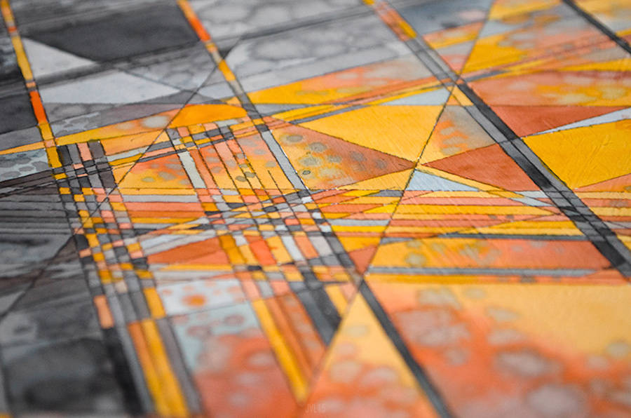 Beautiful Abstract Geometric Watercolors