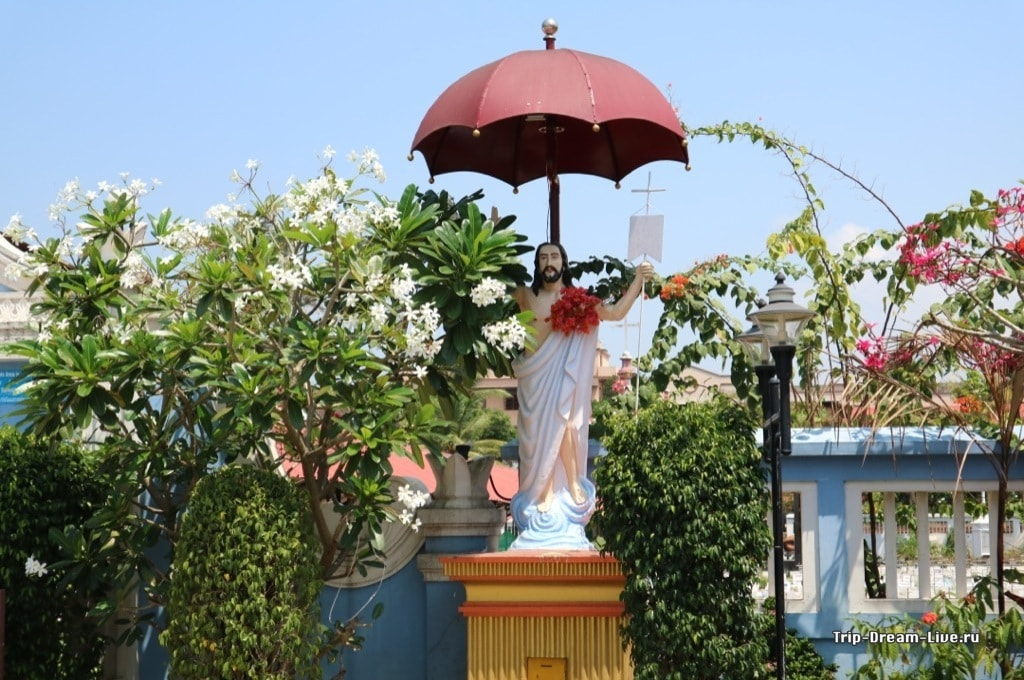 Иисус под зонтиком