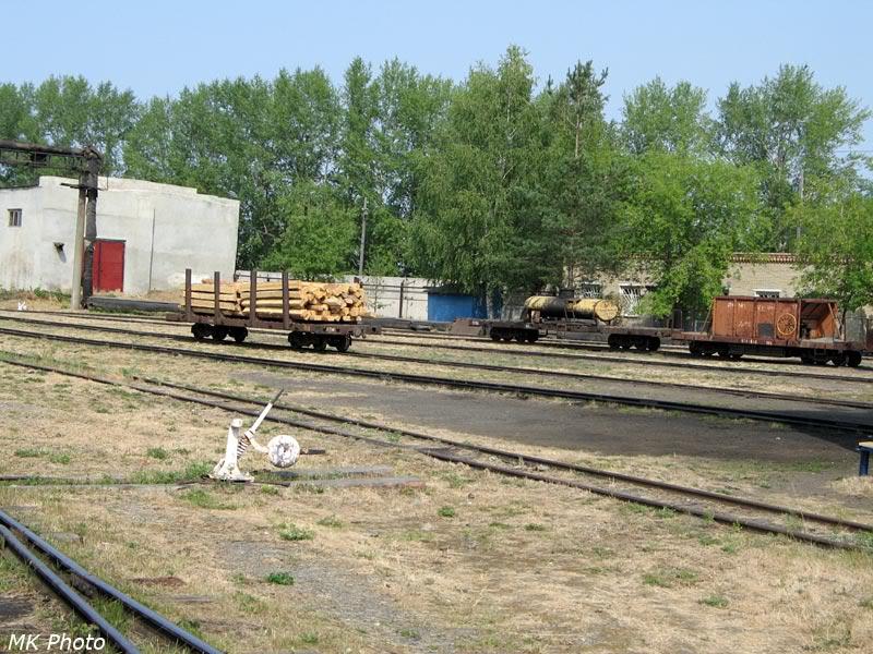 Гружёная платформа