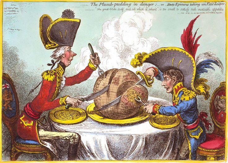 Джеймс Гилрей. Ужин государственных гурманов. 1805