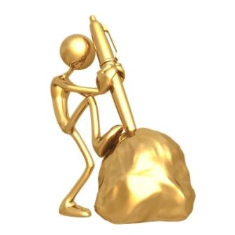Золотая ручка в камне