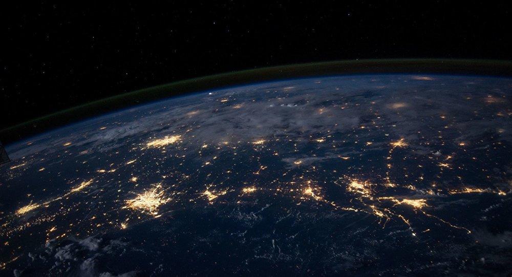 Вид на Землю из космоса архивное