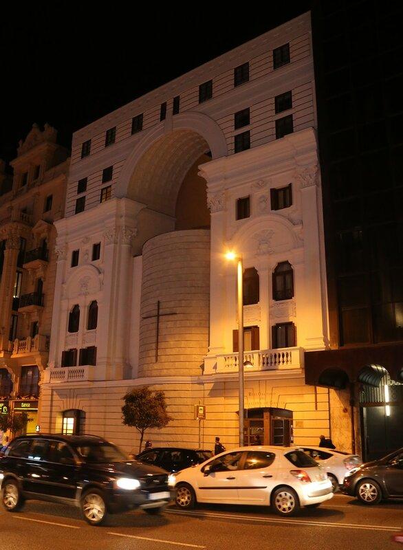 Ночной Мадрид. Оратория Кабальеро-де-Грасия (Real Oratorio del Caballero de Gracia)
