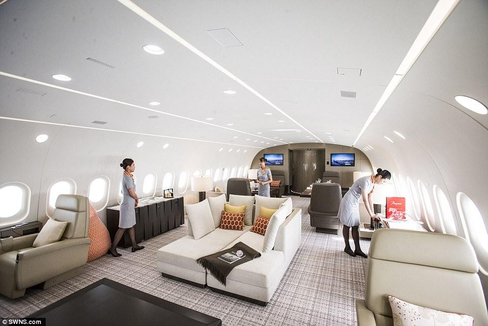 Летающий пентхаус: на борту лайнера, аренда которого обойдется в 25 тысяч долларов в час