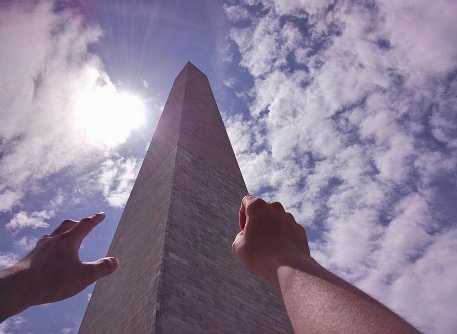 10. Вид от первого лица на Монумент Вашингтона.