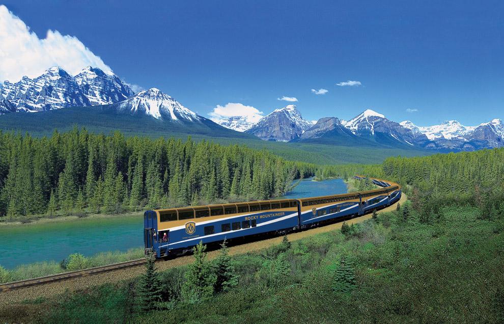 Пассажиры класса «Золотой лист» путешествуют в двухуровневом вагоне с прозрачной крышей. С верх
