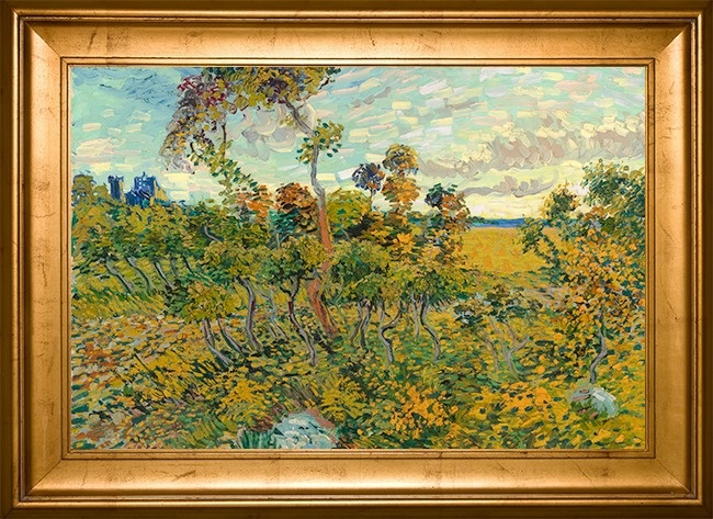 © wikimedia  Неизвестная картина Ван Гога под названием «Закат вМонмажуре» много лет пылилась