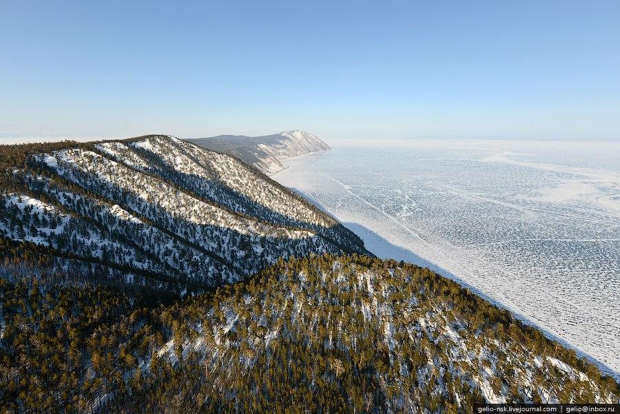 Мыс Хобой — самая северная точка Ольхона. Находится вблизи самого широкого места Байкала (79,5к