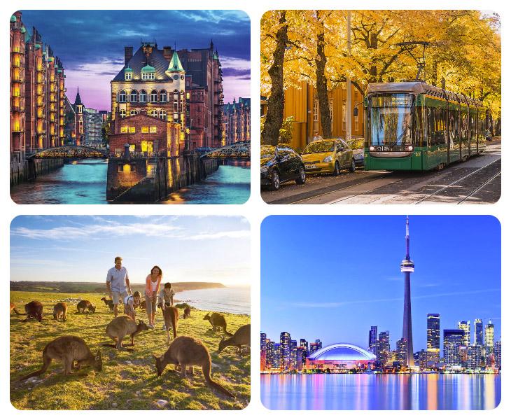 Новый рейтинг 10 лучших городов мира для проживания (55 фото)