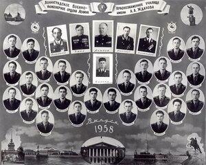 Ленинградское Краснознамённое Военно-инженерное училище им. Жданова. 1958