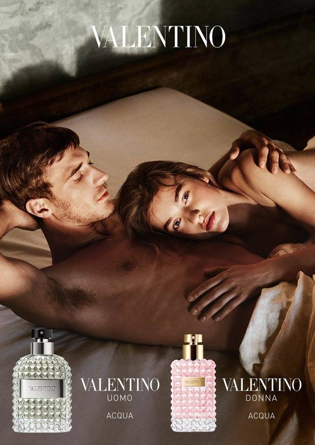 Maartje Verhoef & Clement Chabernaud for Valentino Acqua 2017 (2 pics)
