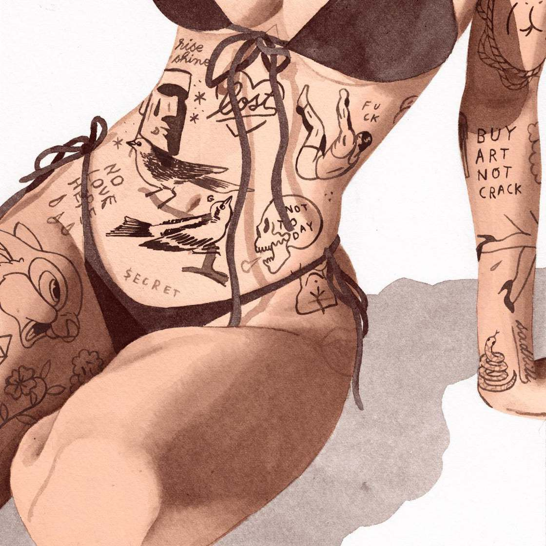 Tattooed Girls - The suggestive illustrations of Jean Andre