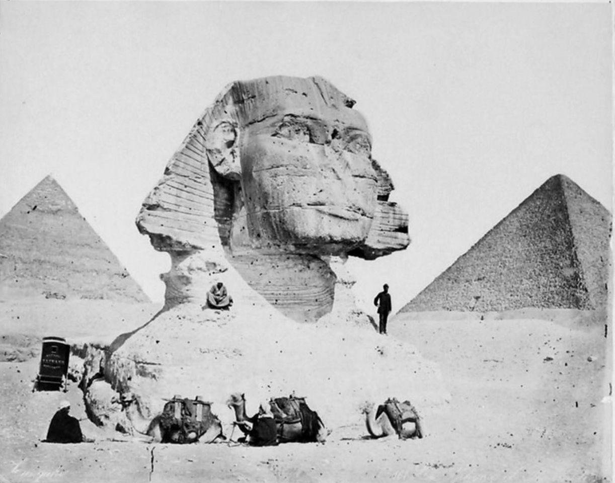 Гиза. Сфинкс и пирамиды. 1893