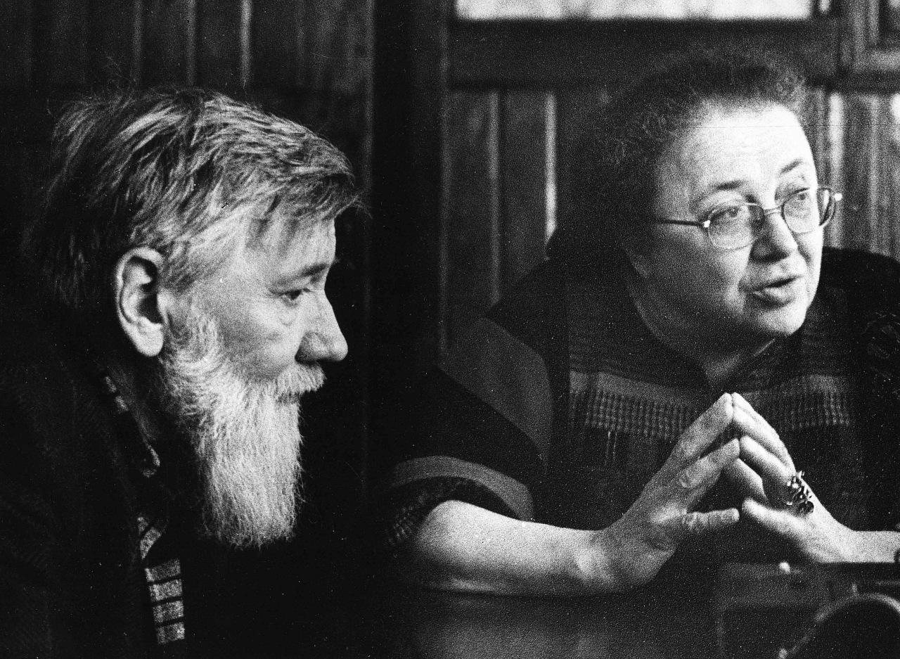 Писатель Андрей Синявский и Мария Розанова