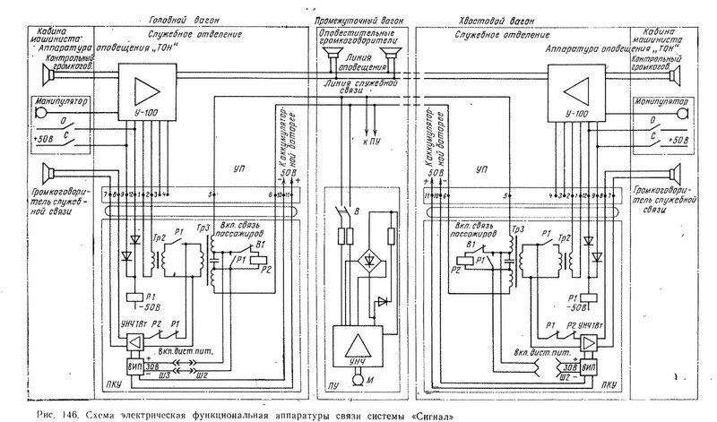 Аппаратура связи пассажир-машинист, схема