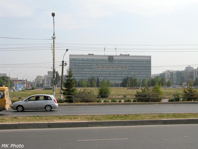 Здание Законодательного собрания Пермского края; вид с Городской Эспланады