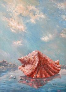 «Прогулка по воде». Холст, масло 50х70.jpg