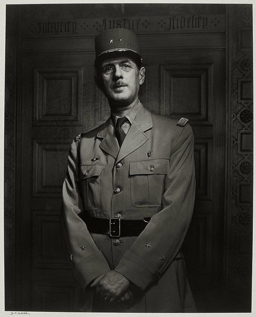 Шарль де Голль1944.  Великий фотопортретист Юсуф Карш (Yousuf Karsh 1908-2002) Часть 2.