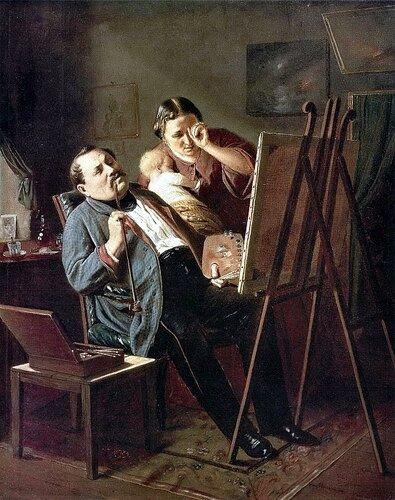 Перов Василий Григорьевич  «Дилетант. 1862»