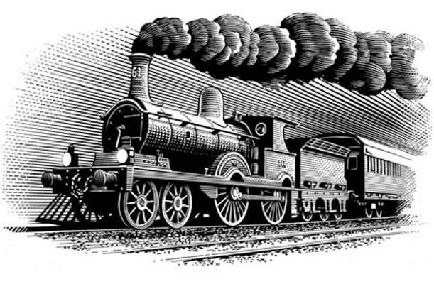 День железнодорожника. Первый поезд