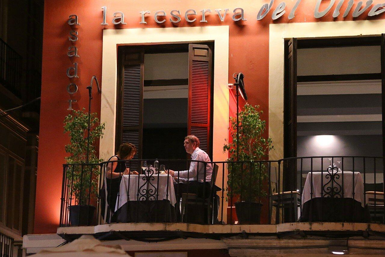 Ночная Малага. Ресторан La reserva del Oliva