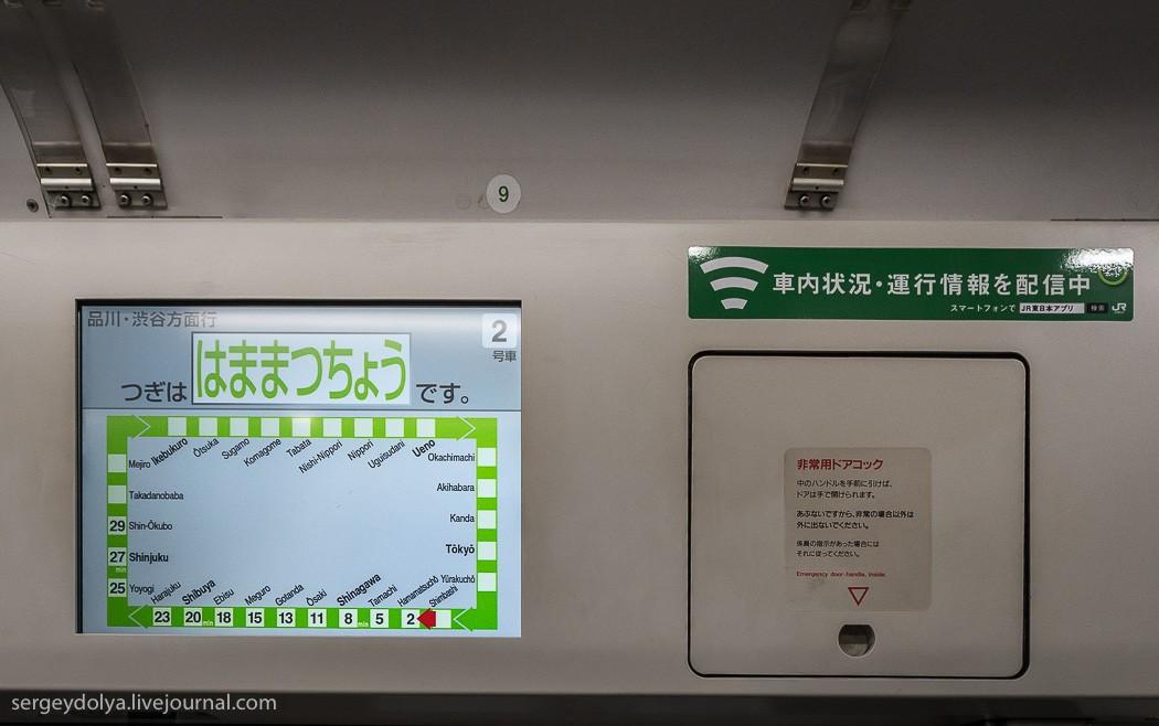 24. Стоимость проезда в Токийском метро зависит от дальности. На схеме красной стрелкой показано наш