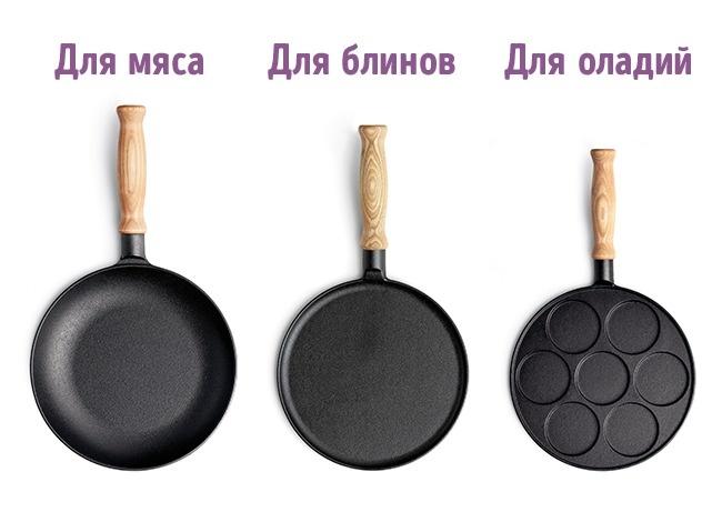 © depositphotos  Каждому блюду— своя сковородка. Кпримеру, для блинчиков нужна сковорода мал