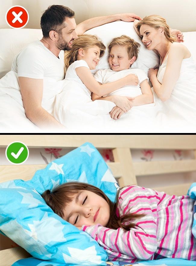 © Depositphotos  Иногда дети просятся вкровать кродителям, когда имприснился кошмар. Ново