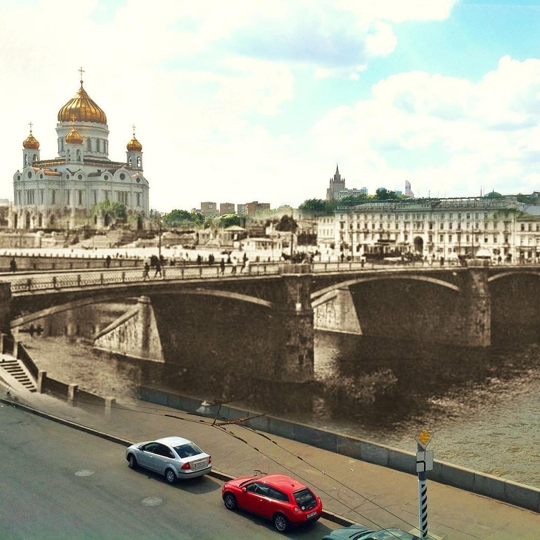 4. Большой Каменный мост. Этот мост дважды перестраивали, и сейчас он находится чуть ниже по течению