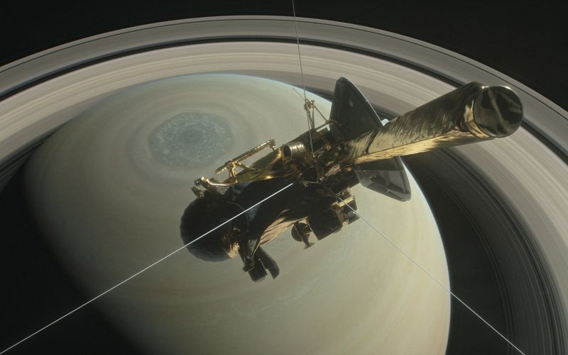 НАСА показало анимацию уничтожения Cassini вСатурне