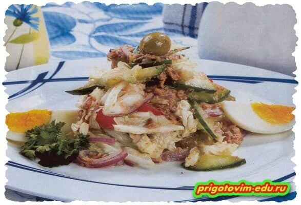 Салат «Идальго» из яиц с рыбой