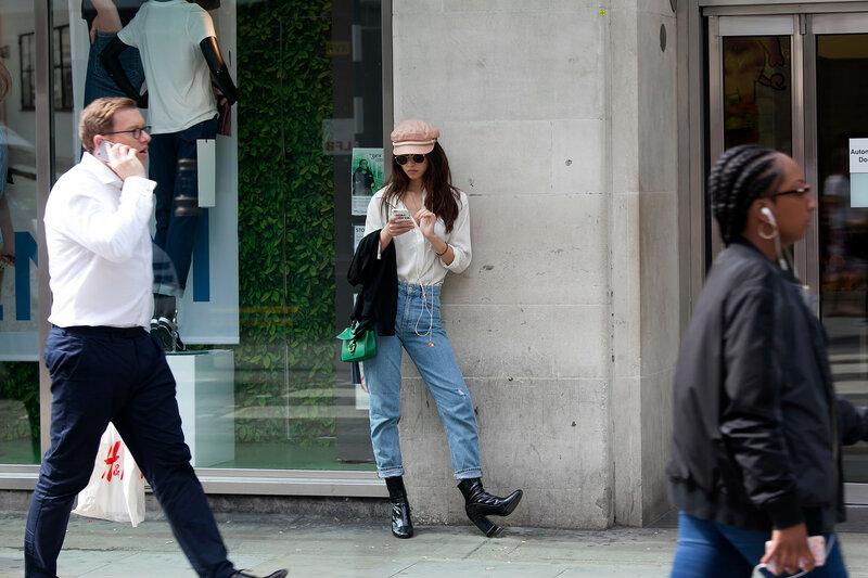 People walk near Covent Garden