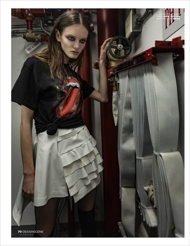 Alina Honcharuk Stars in Tar Black Soul for Design SCENE Magazine