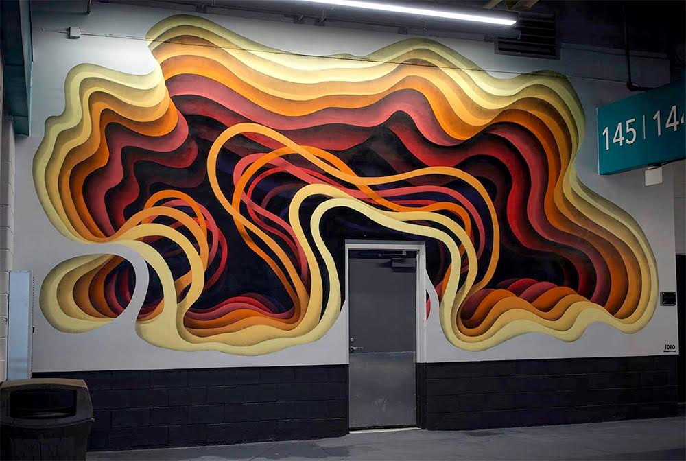 New Cavernous Murals by German Street Artist '1010′ (7 pics)