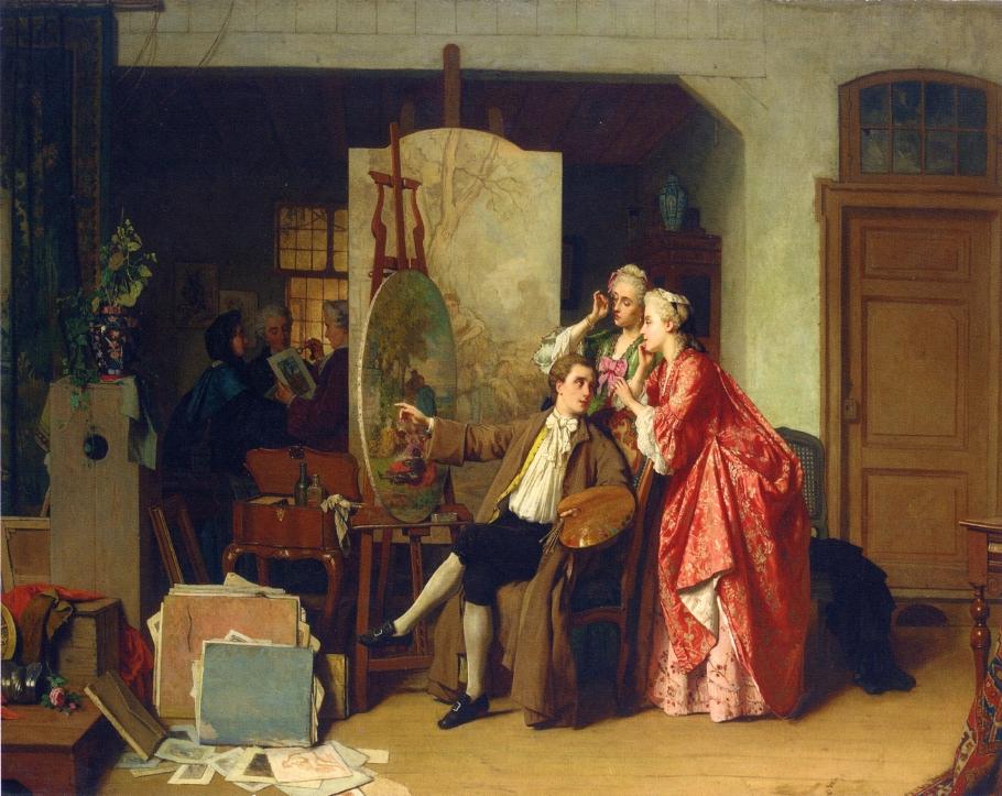 4 Jean Carolus     A Visit to Watteau's Studio.jpg