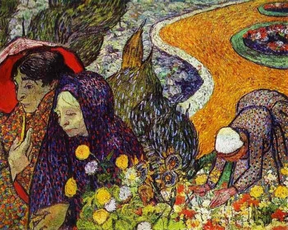 Vincent van Gogh (1853-1890). Ladies of Arles (Reminiscence of the Garden at Etten). November 1888. The Hermitage, St. Petersburg, Russia..jpg