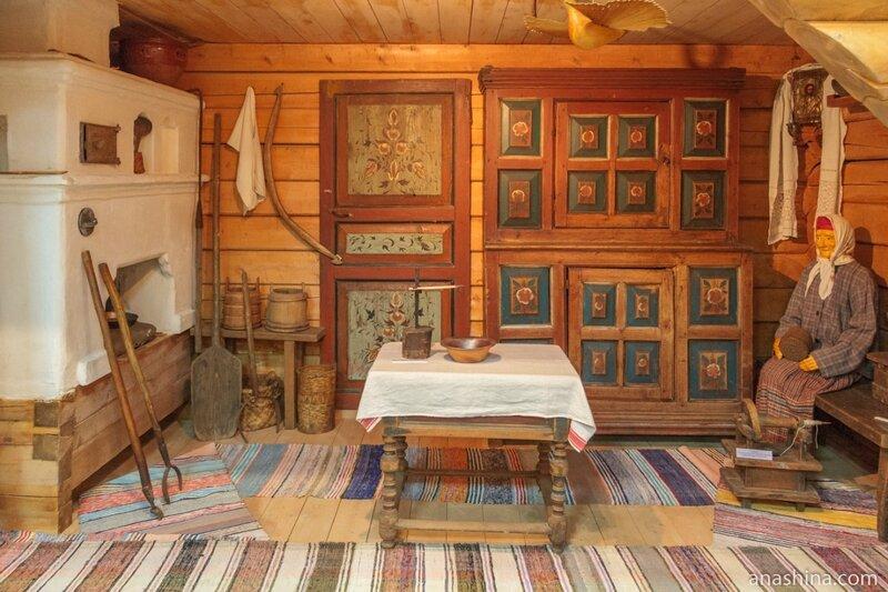 Интерьер типичного крестьянского дома Вытегорского района, Вытегорский краеведческий музей, Вытегра